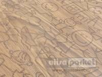 Паркетная доска Mafi Carving Oak Carving Kids I Brushed White Oiled C004BKW