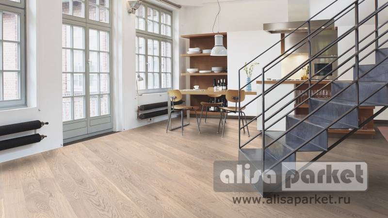Фото паркетной доски Boen Gent Plank 138, 181, 209 mm Oak Animoso white 138 мм в интерьере