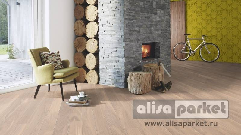 Фото паркетной доски Boen Gent Plank 138, 181, 209 mm Oak Andante white 138 мм в интерьере