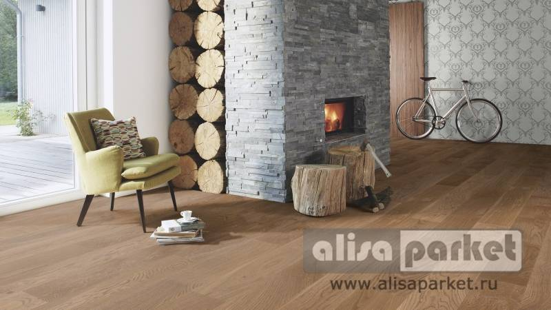 Фото паркетной доски Boen Stonewashed Collection 138, 209 mm Oak Barrel brushed 209 мм в интерьере