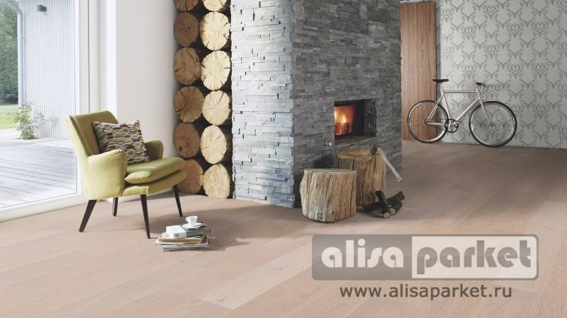 Фото паркетной доски Boen Stonewashed Collection 138, 209 mm Oak Pearl 209 мм в интерьере
