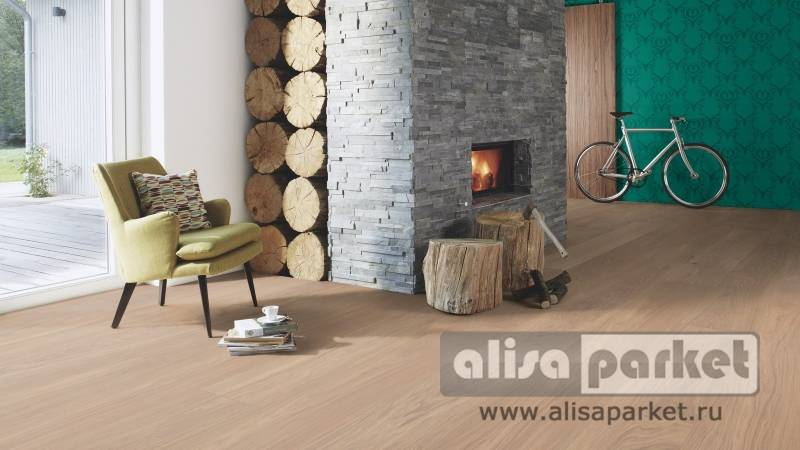 Фото паркетной доски Boen Chaletino Plank 300 mm Дуб Nature white в интерьере