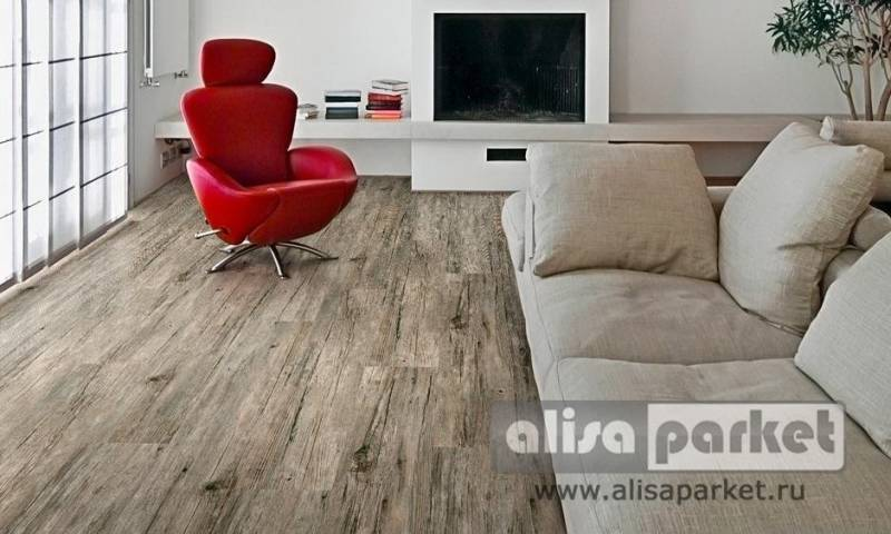 Фото паркетной доски Corkstyle Wood Plus Wood Birch Old в интерьере