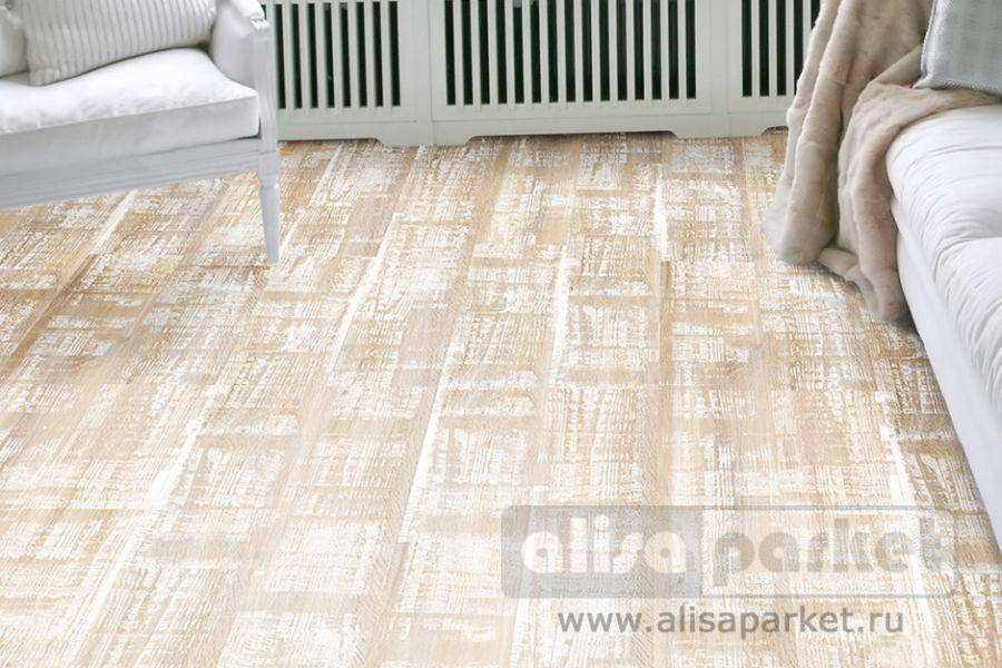 Фото паркетной доски Corkstyle Wood Plus Color Dolomit White в интерьере