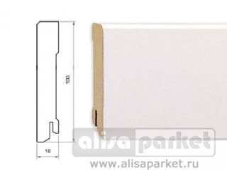 Фото Плинтуса и пороги Pedross White MDF 100 mm 5913 в интерьере