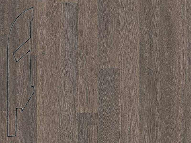 Фото Плинтуса и пороги Quick-Step Плинтус МДФ 58x12мм 4-полосный / Grey Varnished French Oak 4-strip